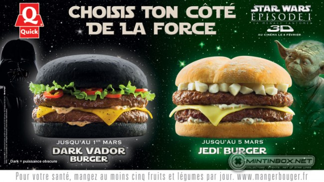 Quick burgers Star Wars